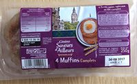 4 Muffins complets - CASINO SAVEURS D'AILLEURS - Royaume-Uni - Product