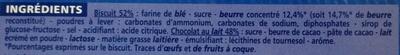 Biscuits Mention Bien Chocolat au lait - Ingrédients