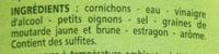 Cornichons Très Fins (croquants) - Ingrediënten
