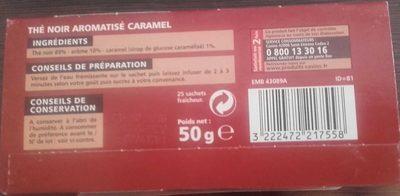 Thé noir aromatisé caramel - Informations nutritionnelles