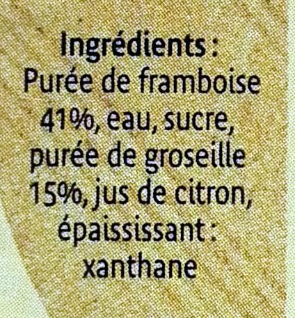 Coulis framboise groseille - Ingrédients - fr