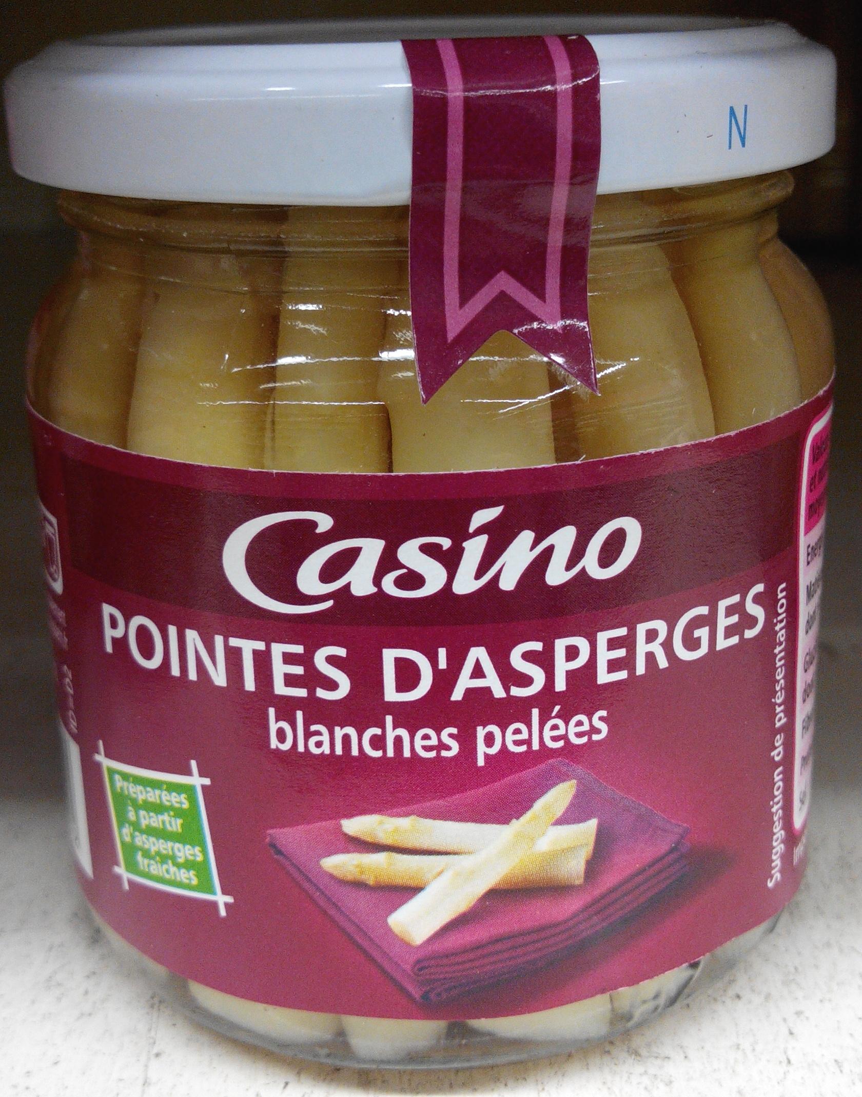 Pointes d'asperges blanches pelées bocal - Produit - fr