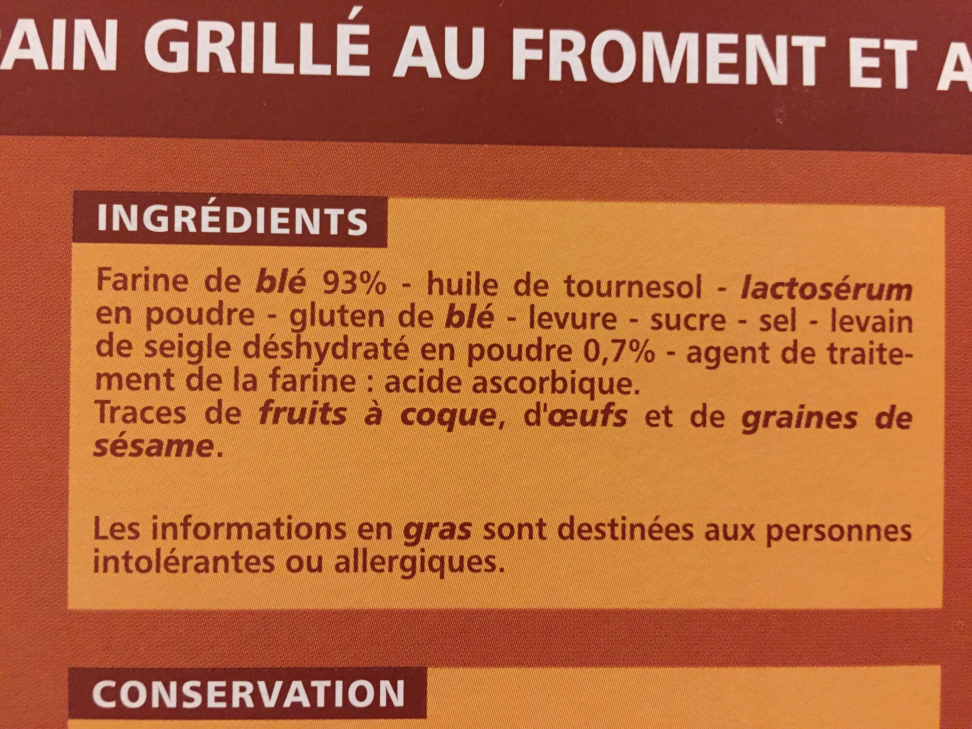 Pain.grille Campagnard 300G Casin - Ingrédients - fr