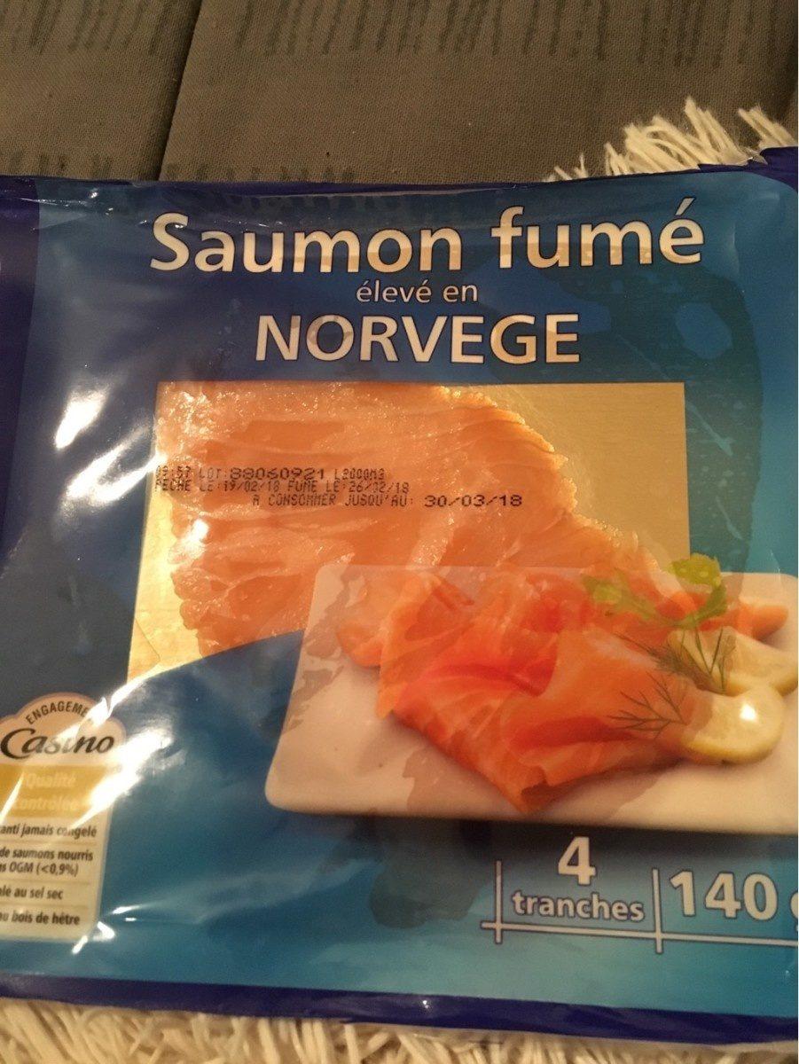 Saumon Fumé élevé En Norvège, 140 Grammes, Marque Casino - Product