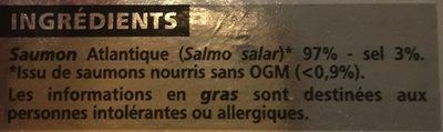 Saumon Fumé élevé En Norvège, 140 Grammes, Marque Casino - Ingredients