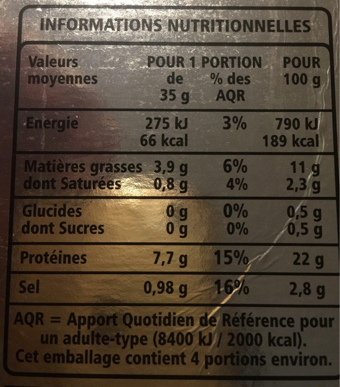 Saumon Fumé élevé En Norvège, 140 Grammes, Marque Casino - Nutrition facts