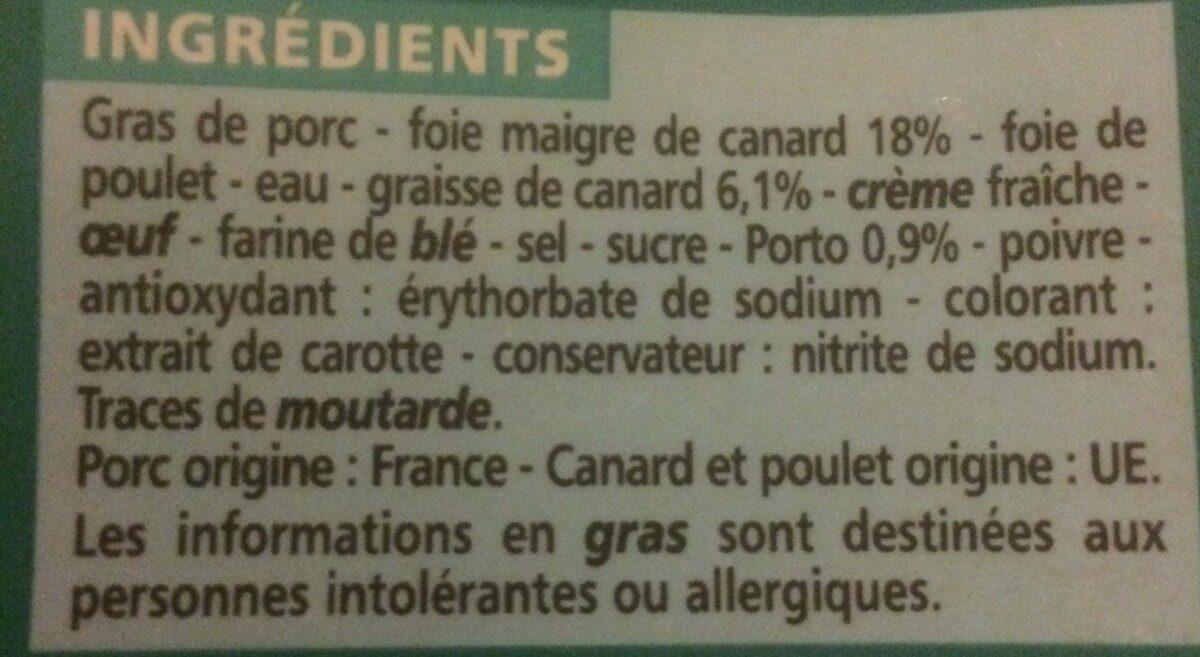 Mousse de Canard au Porto - Ingrediënten