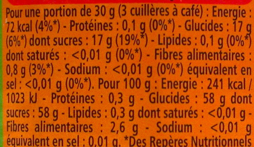 Myrtille confiture extra - Nutrition facts - fr
