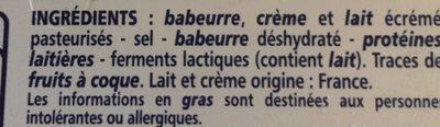 Fromage à tartiner nature - Ingrédients - fr