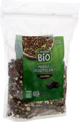 Muesli croustillant BIO au chocolat Casino Bio - Produit - fr