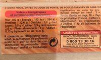 Oeufs frais datés du jour de ponte - Ingrediënten