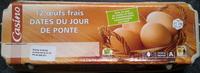 12 Oeufs frais datés du jour de ponte - moyen - Produit - fr