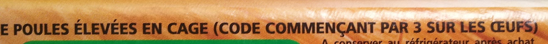12 Oeufs frais datés du jour de ponte - moyen - Ingrédients - fr