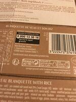 Blanquette de veau et son riz - Recyclinginstructies en / of verpakkingsinformatie - fr