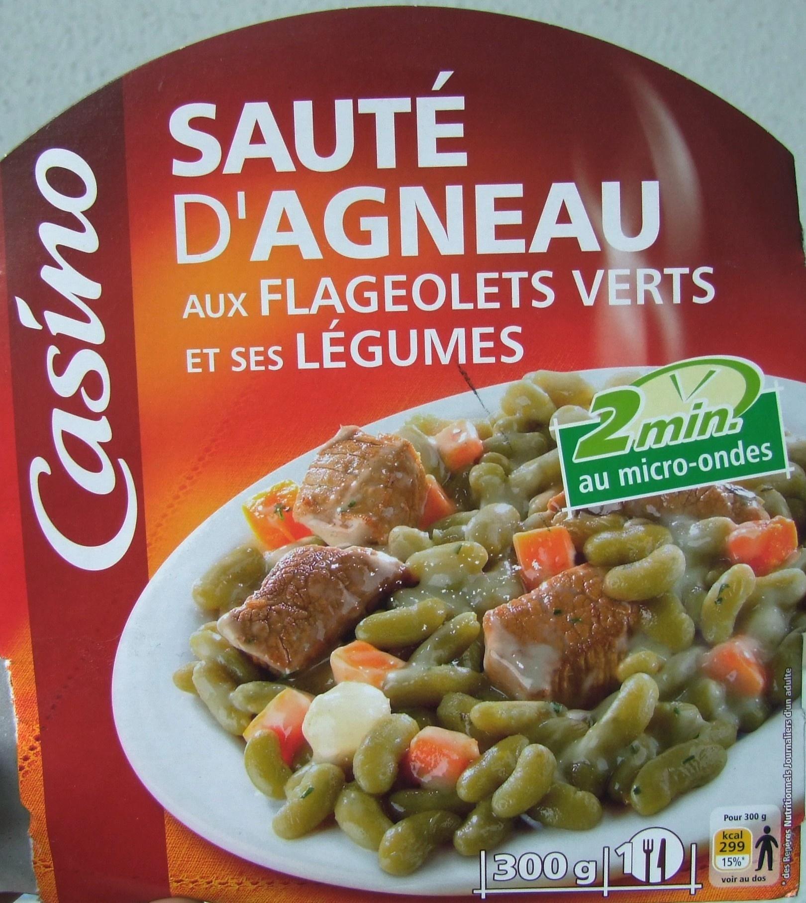 Sauté d'agneau aux flageolets verts et ses légumes - Product