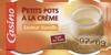 Petits pots de crème saveur vanille - Product