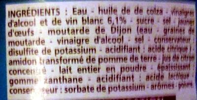 Sauce crudités nature - Ingrédients