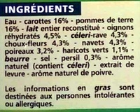Mouliné de légumes variés - Ingredients