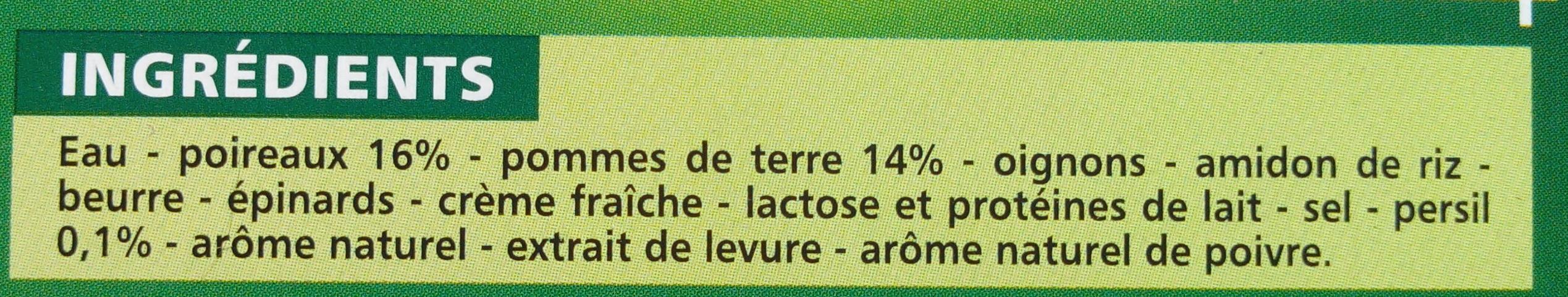 Velouté Poireaux Pommes de terre - Ingrediënten
