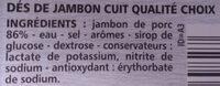 Dés de Jambon - Ingrédients - fr