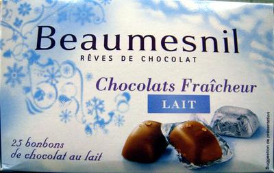 Rêves de chocolat Chocolats Fraîcheur Lait Beaumesnil - Product