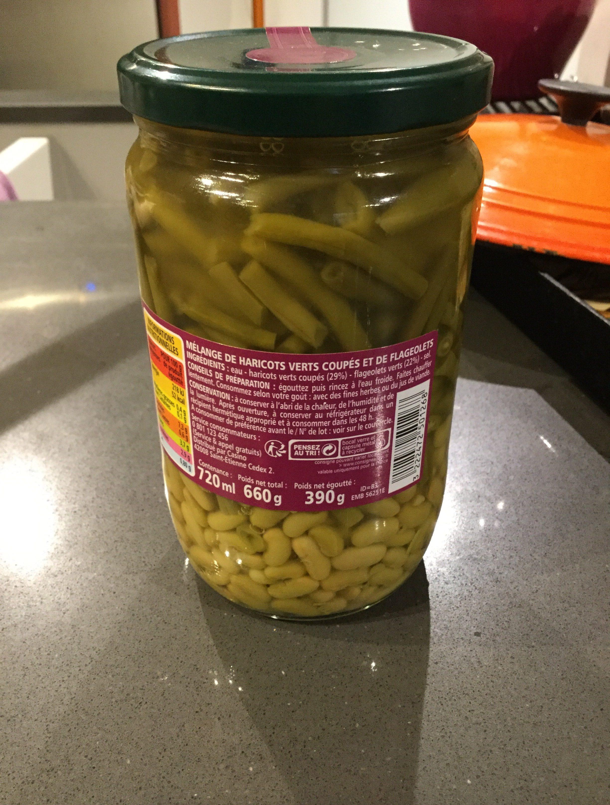Mélange haricots verts coupés et flageolets - Ingredients