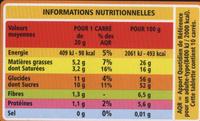 Chocolat Noir Orange Ecorces confites - Nutrition facts