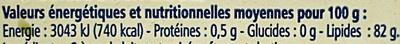Beurre Moulé Extra-Fin Doux - Nutrition facts - fr