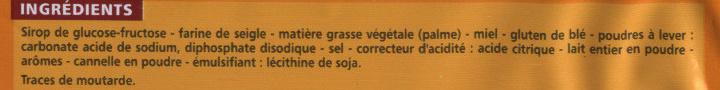 Pain d'épices en tranches - Ingrediënten - fr