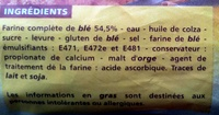 Pain de mie Extra Moelleux complet - Ingredienti - fr