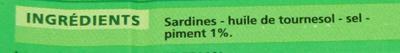 Sardines au piment - Ingrédients