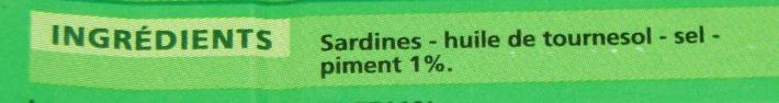 Sardines au piment - Ingrediënten
