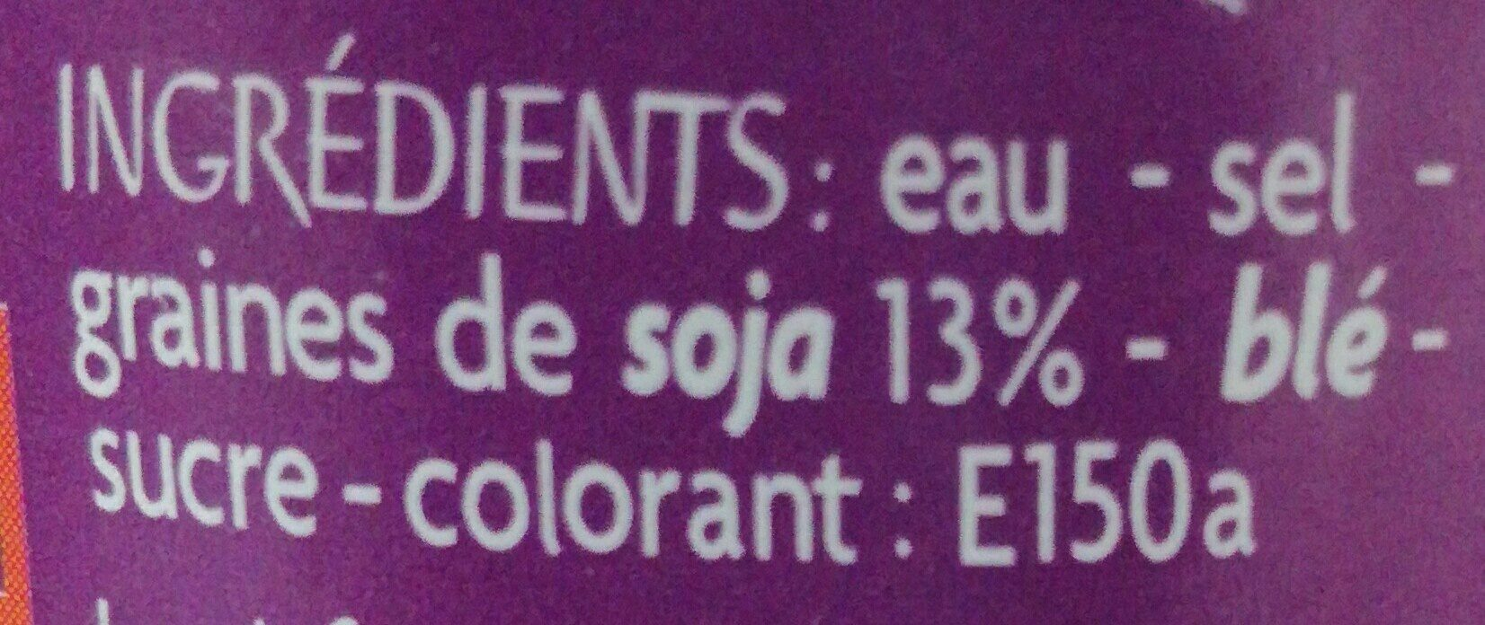 Sauce Soja - Ingredients