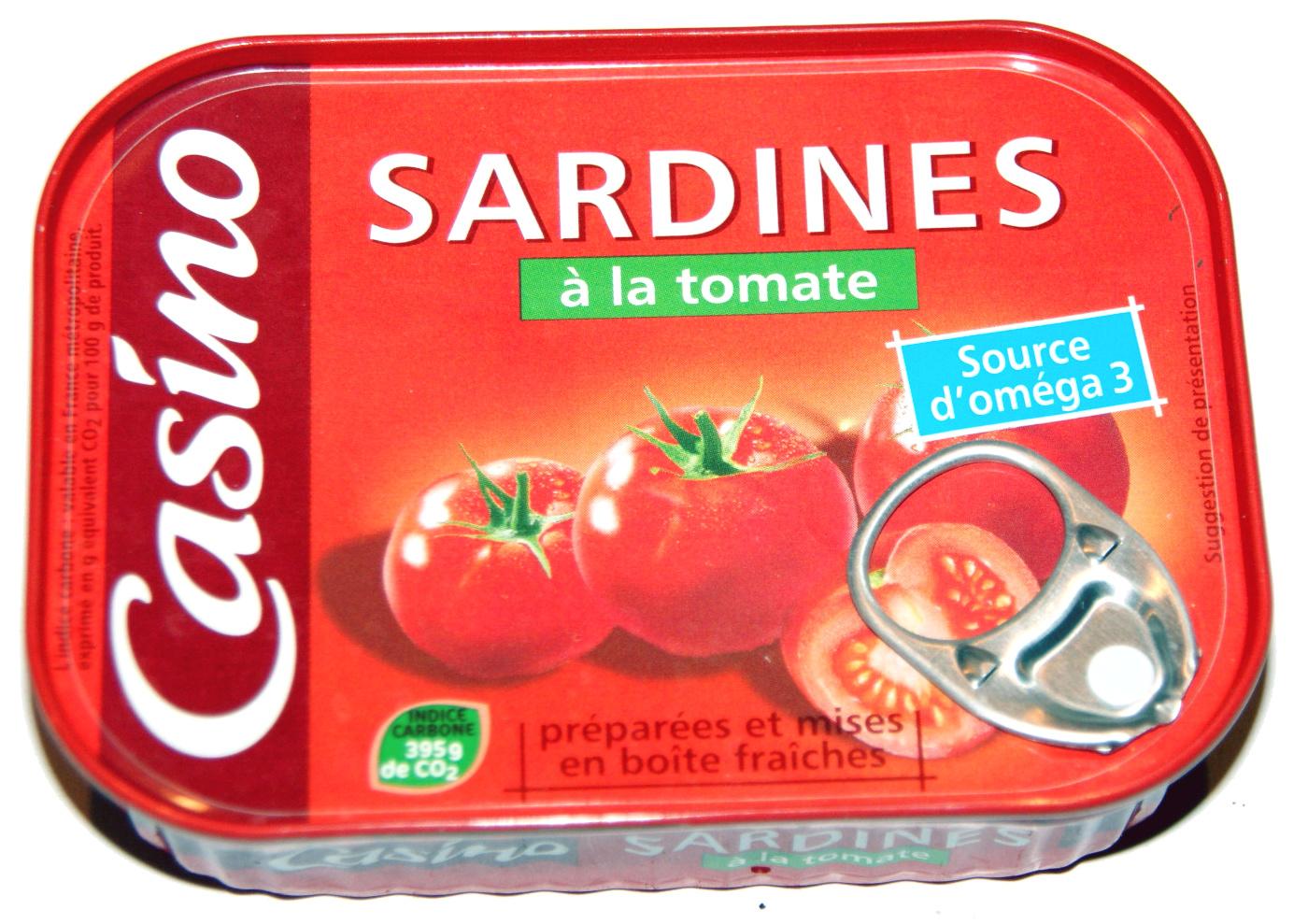 sardines la tomate casino 135 g. Black Bedroom Furniture Sets. Home Design Ideas