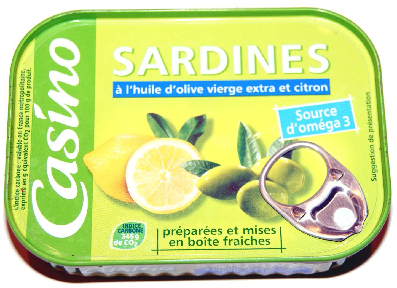 Sardines à l'huile d'olive vierge extra et citron - Product
