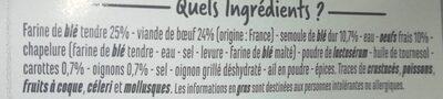 Ravioli boeuf recette aux oeufs frais - Ingrédients