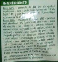 Ravioli au Jambon - Ingrédients - fr