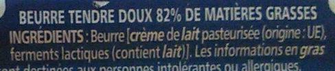 Beurre tendre doux - Ingrédients - fr