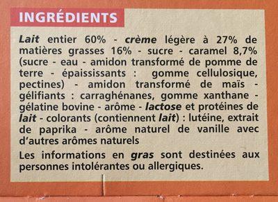 Gourmandise viennoise saveur vanille sur lit de caramel - Ingrediënten - fr