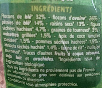 Muesli floconneux Fruits & Graines - Ingrédients - fr
