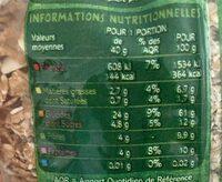 Muesli floconneux Fruits & Graines - Informations nutritionnelles - fr