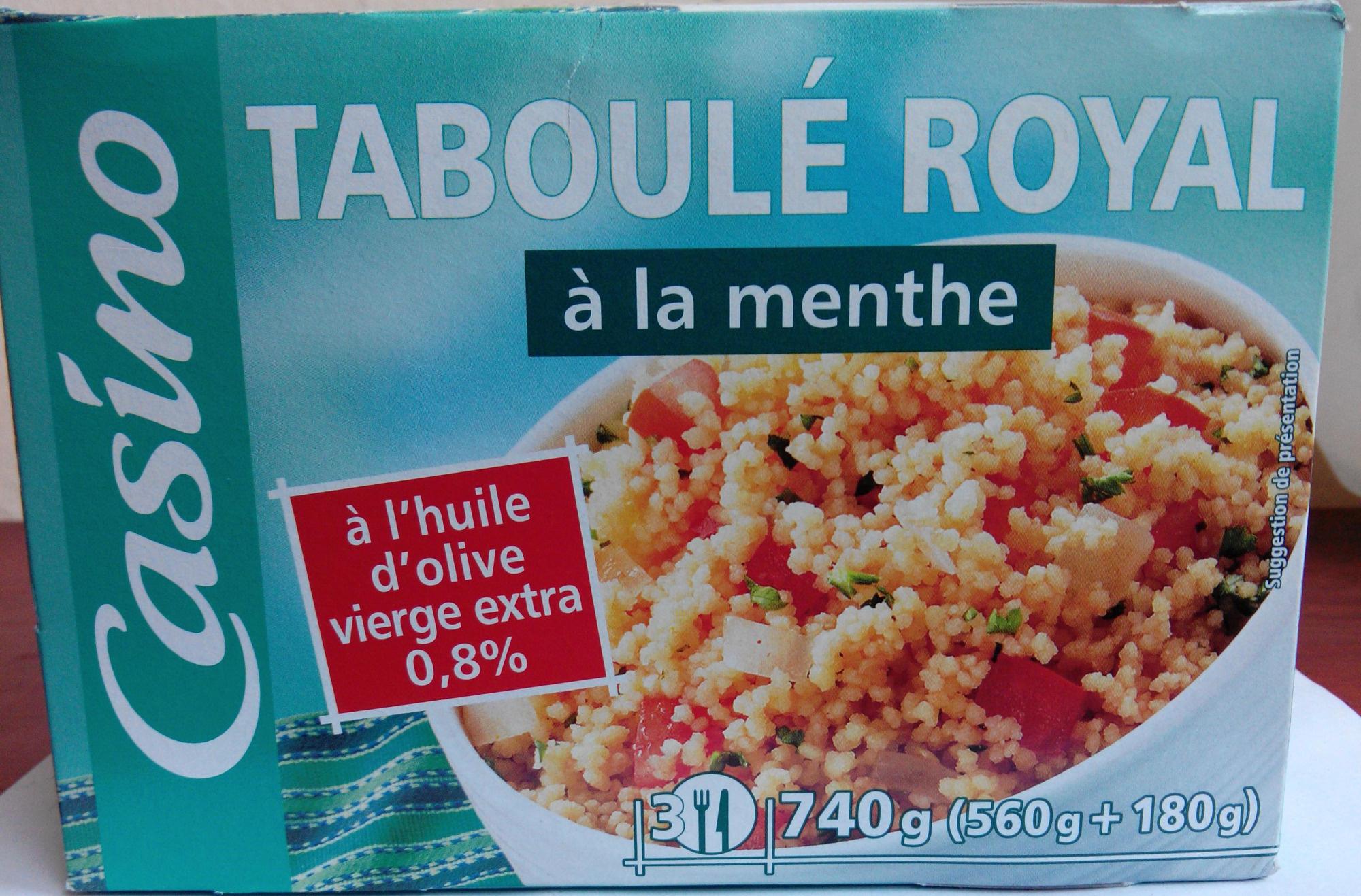 Taboulé royal à la menthe -