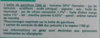Taboulé royal à la menthe - Ingrediënten - fr