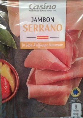 Jambon Serrano 10 mois d'affinage minimum - Product - fr