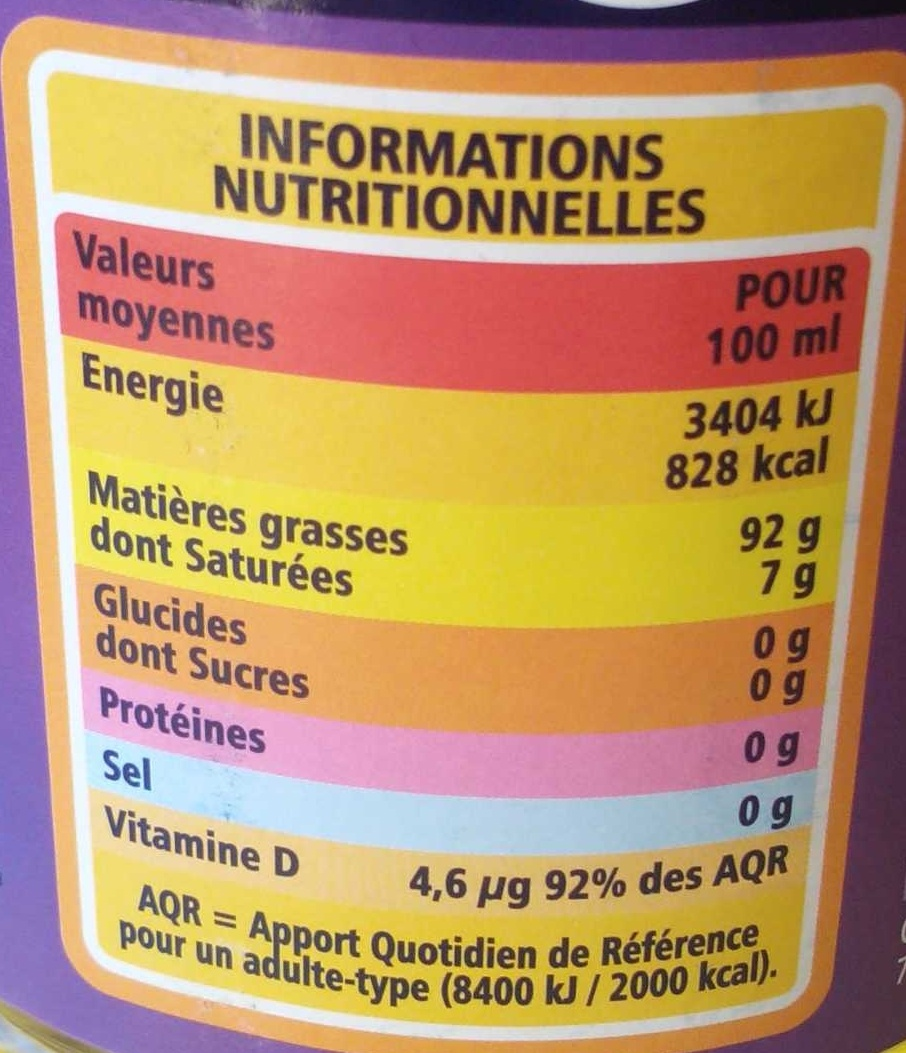 Equilence 4 - Valori nutrizionali - fr
