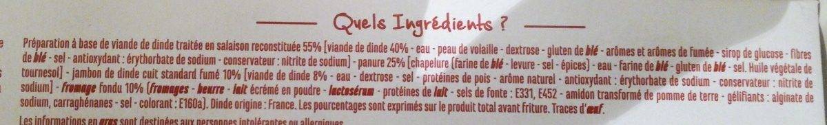 Cordons bleus de dinde - Ingrediënten - fr