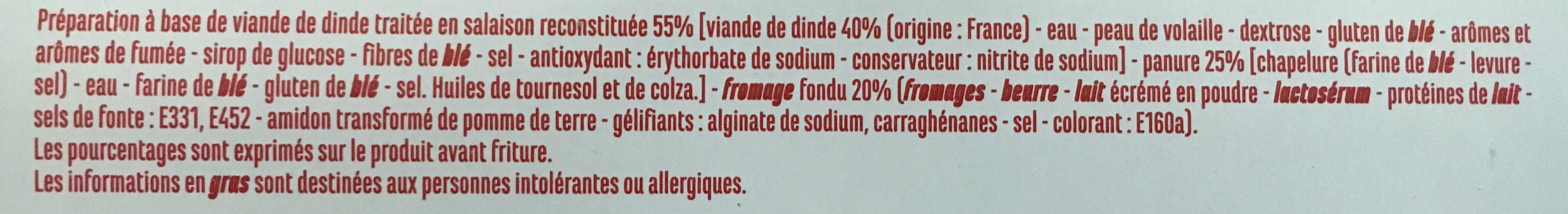 Panés de dinde fromage fondu - Casino - Ingrediënten