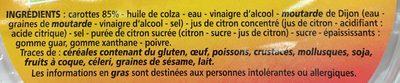 Carottes Râpées - Ingredientes