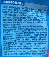 Mini bâtonnets saveur crabe - Ingrédients - fr