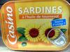 Casino sardines à l'huile de tournesol - Produit
